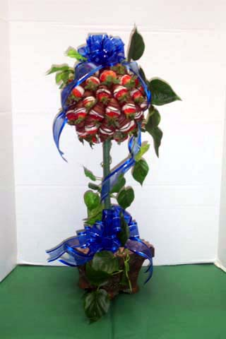 "Strawberry Topiary Tree - 6"" Single"